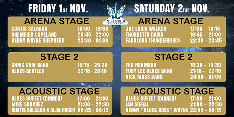 Blues Heaven 2019 - Blueslegender i verdensklasse - Arena Nord